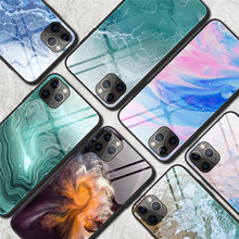 Tempered Glass Pattern Cover Phone Cases For iPhone
