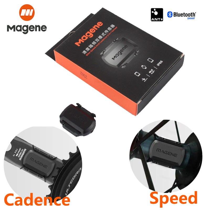 MAGENE ANT+Bluetooth Speed Cadence Dual Sensor for Garmin iGPSPORT Bryton Call