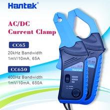 Hantek cc650 ac dc atual braçadeira medidor de corrente cc65 handheld osciloscópio multímetro com conector bnc