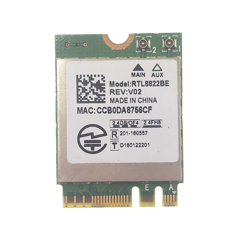 Беспроводной адаптер Realtek RTL8822BE 802.11AC, 2,4 ГГц/5 ГГц, Wi-Fi, Bluetooth 4,1, NGFF M.2