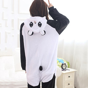 Image 2 - Adult Panda Cartoon Kigurumi Cosplay Costume Women Loose Kid Winter Animal Onesie Jumpsuit Boy Anime Flannel Pajamas Sleepwear
