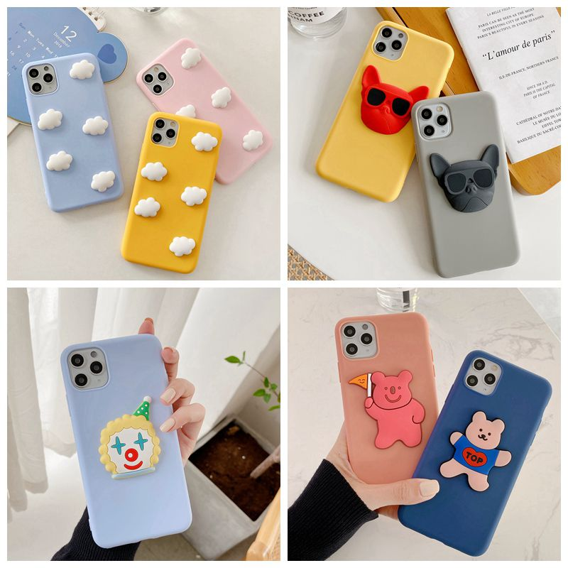 For Oneplus 1+7T 1+7 Pro Case 3D Cute Cartoon bear dog Pattern <font><b>Phone</b></font> Case For <font><b>One</b></font> <font><b>plus</b></font> 1+6T 1+<font><b>6</b></font> 1+5T 1+5 Soft TPU <font><b>Cover</b></font> Coque image