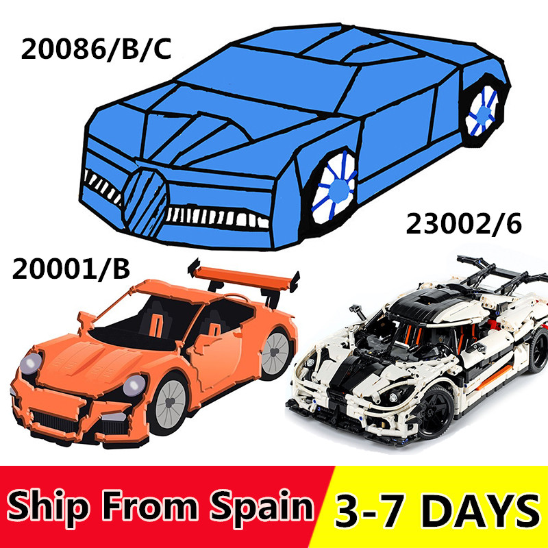 20001 20001B 20086 23002 Building Blocks Race Car Compatible 42056 42083 self locking Bricks Toys for