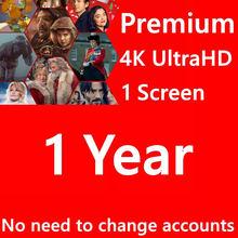 Netflixes premium 12mons/24mons acc 5 telas 4k uhd disponível em todo o mundo