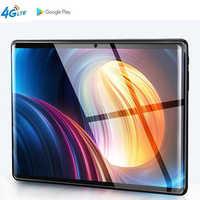 10.1 pouces 2.5D écran tablette Deca Ten 10 Core 6GB 128GB ROM double carte SIM 4G LTE 8.0 MP GPS Android 9.0 google IPS la tablette pc
