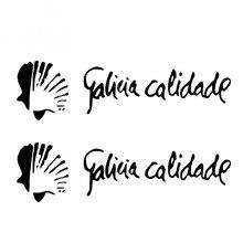 2x домашнего декора автомобилей Стикеры Vinilo Galicia Calidade Pegatina Aufkleber Водонепроницаемый стайлинга автомобилей виниловые наклейки, 15 см