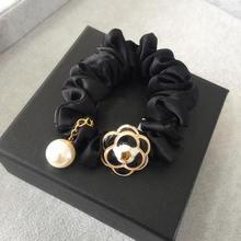 Новая Камелия лента для волос с кисточкой жемчуг модная резинка