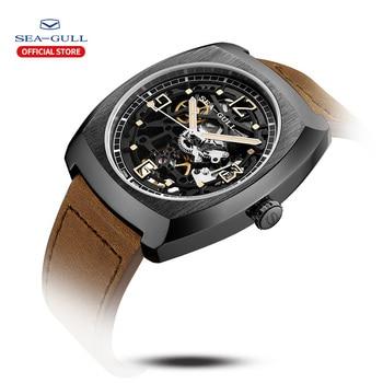 2020 Seagull Watch Men's Barrel Automatic Mechanical Watch Hollow Perspective Luminous Mechanical Watch Large Dial 849.27.6094 2