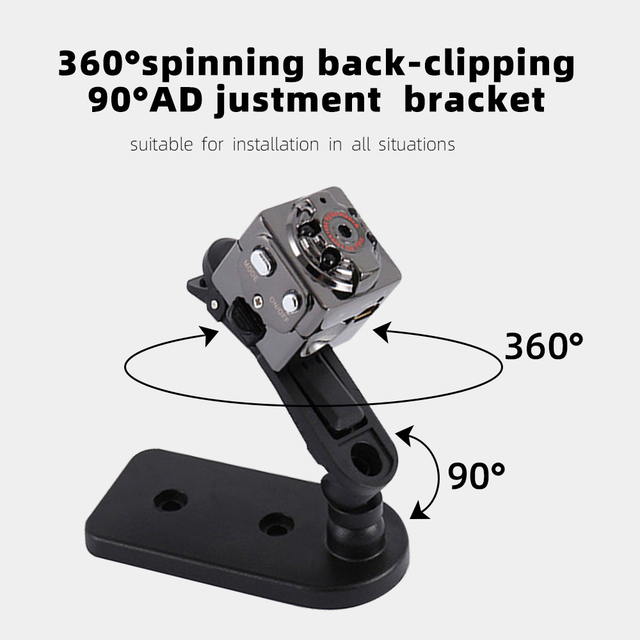 SDETER Mini Camera HD 720P Camera Camcorders Sport DV IR Night Vision Motion Detection Small Camcorder DVR Video Recorder  Cam 2
