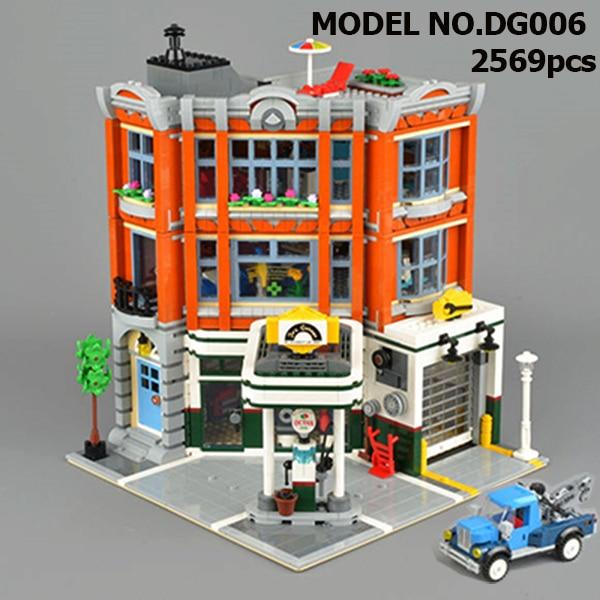 10264 IN STOCK Creator Corner Garage 15042 2569Pcs Street View Model Building Blocks Bricks Kids Education Toys