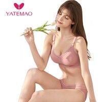 YATEMAO 2pcs Wirefree Breastfeeding Bra Maternity Nursing Bra Pregnancy Clothes for Mternity Women Prengant Bras Big Size Sleep