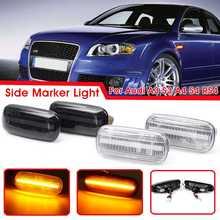 2pcs Car LED Side Marker Light Turn Signal Indicator Lamps Amber For Audi A3 S3 8P A4 S4 RS4 B6 B7 B8 A6 S6 RS6 C5 C7