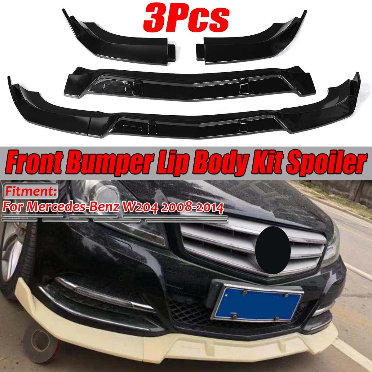 08-11 Mercedes-Benz W204 C300 C350 Sedan Carbon Fiber Godhand Style Front Lip