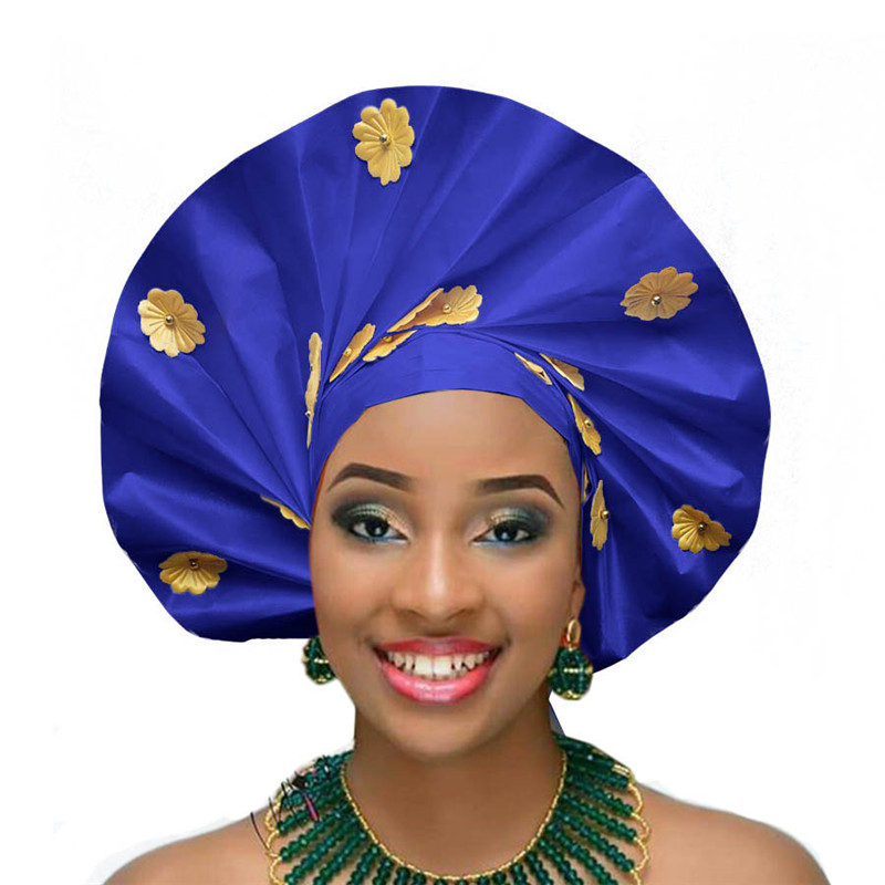 2018 New Arrival  Fan Headtie Gele Already Tied Sego Regular Headtie