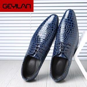 Classic Shoes Formal-Dress Oxford Social Fashion Black Sapato Men Hombre