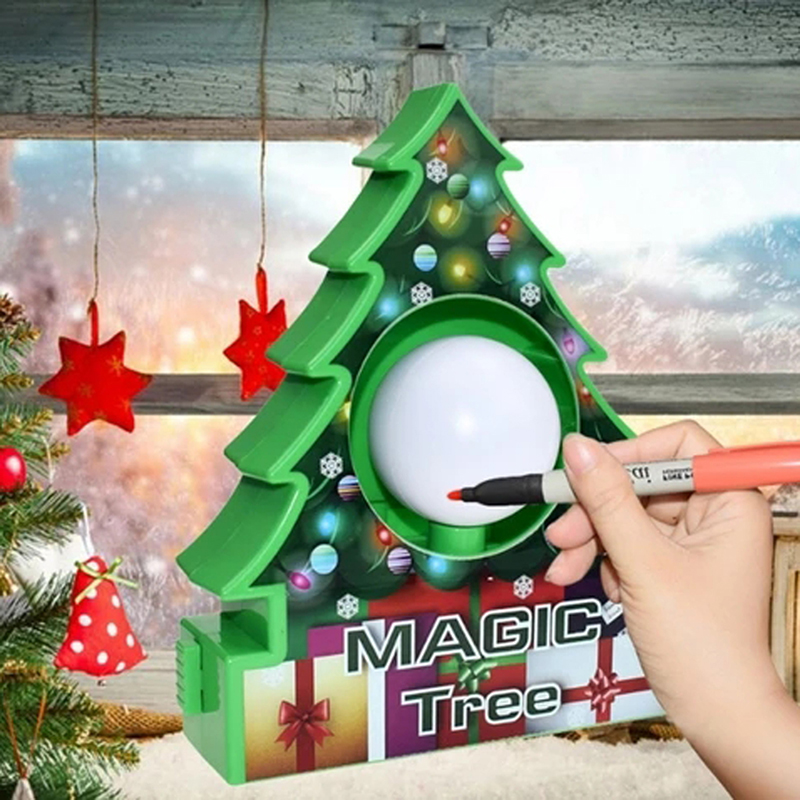 1 Set Christmas Electric Magic Tree Painting Balls Decorations Kit With Marker Pens For Children Kids Xmas Toy Gifts Trees Aliexpress