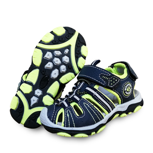 Image 4 - 新デザイン 1 ペア少年子供ビーチサンダルの革の靴、レジャーの子供靴