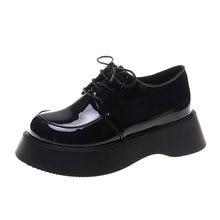 На шнуровке с толстой подошвой; Кожаная женская обувь; Британский