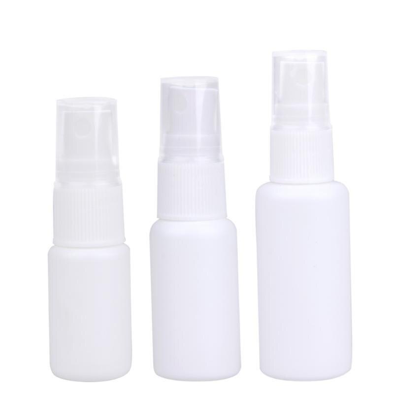 10pcs/set 10/20/30ml Medical Spray Bottles Empty Portable Liquid Spray Bottle PE Plastic Liquid Storing Safe Spray Bottle