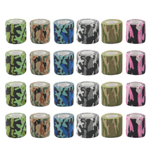 24pcs Camouflage Tattoo Grip Bandage Elastic Wraps Tapes Nonwoven Self-adhesive Finger Protection for Tattoo Machine Pen Grip