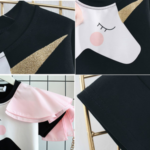 Image 5 - Family Matching Clothes Mother Daughter Dresses Matches Unicorn Dress T shirt for Mom Mommy & Me 3D Print Clothing Funny Outfits