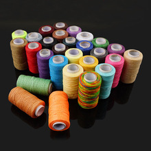 MIUSIE 260 Meters Flat Leather Sewing Waxed Thread Cord Craft 1mm 150D String Dacron Line Stitching Tool