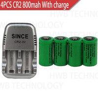 HEIßE NEUE CR2 + ladegerät 800mah 15270 3v lithium-batterie (4 batterie + 1 ladegerät)