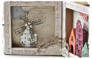Image 4 - Piggy Craft do cięcia metalu umiera cięcia formy zamek wiatrak dom papier do notatnika craft nóż formy ostrze wykrojniki szablony umiera