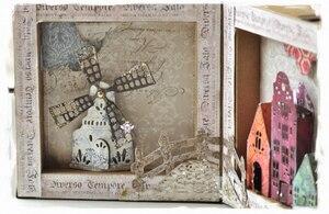 Image 4 - Piggy Handwerk metall schneiden stirbt cut sterben form Burg windmühle haus Sammelalbum papier handwerk messer form klinge punch schablonen stirbt
