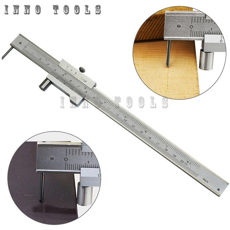 0 200mm 300mm 400mm 500mm paralelo de aço inoxidável marcação vernier caliper marcação calibre com carboneto scriber marcação ferramenta calibre|Pinças|   -