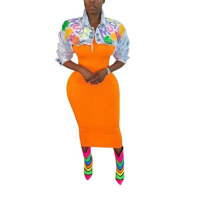 Женское повседневное джинсовое пальто echoine разноцветное с