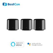 3 แพ็ค BroadLink RM4 BestCon RM4C Mini WIFI IR Smart Home Automation รีโมทคอนโทรลควบคุมเสียงเข้ากันได้กับ Alexa Google Assistant