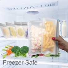 Многоразовые Пакеты для хранения, 12 пакетов герметичных мешков для морозильника(5 многоразовых мешков для сэндвичей и 5 многоразовых мешков для закусок и 2 больших мешков), PEVA Zi