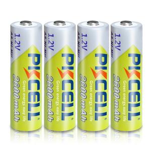 Image 2 - 10Pcs PKCELL Ni Mh AA Batterien 2300mAh 2600mAh 1,2 V NiMh AA Akku 2A Batteria Zelle für Taschenlampen Kamera Spielzeug