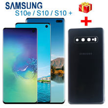 100% Original LCD For Samsung Galaxy S10e G970 S10 G973 G973F S10+ Plus G975 G975F Display Touch Screen Digitizer + Back cover