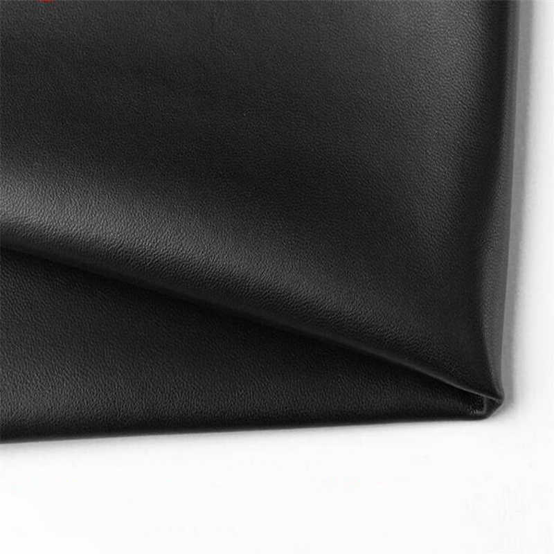 Ocultar negro primera capa de cuero de oveja tela diy hecho a mano ropa ultradelgada cuero real calidad cuero genuino