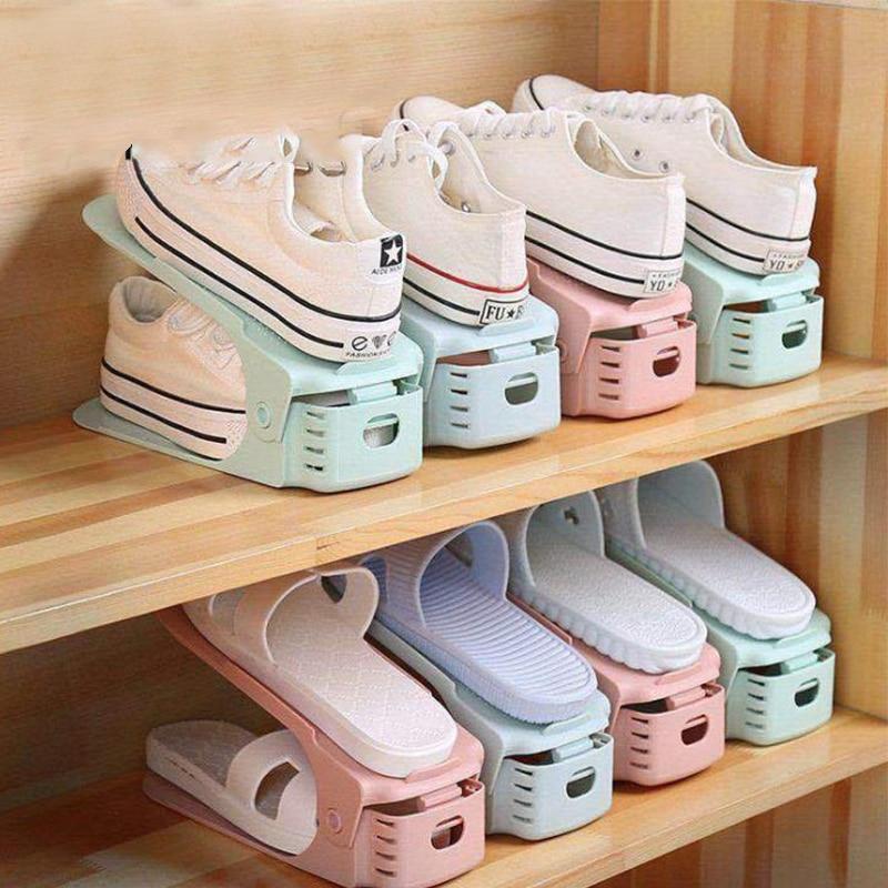 Creative Shoe Rack Adjustable Finishing Home Shelf Adjustable Shoe Care Dormitory Shoe Cabinet Shoe Storage Artifact