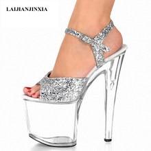Laijianjinxia novo sexy 20 cm sandálias de salto alto moda boate sapatos pole dança sapatos modelo de salto alto sapatos femininos