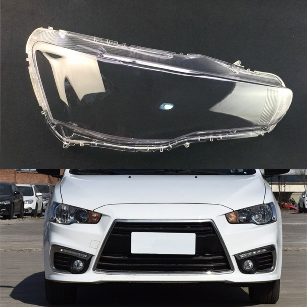 For Mitsubishi Lancer EX 2010 ~ 2017 Headlight Lens Car Headlamp Cover Replacement Clear Glass Auto Shell Cover