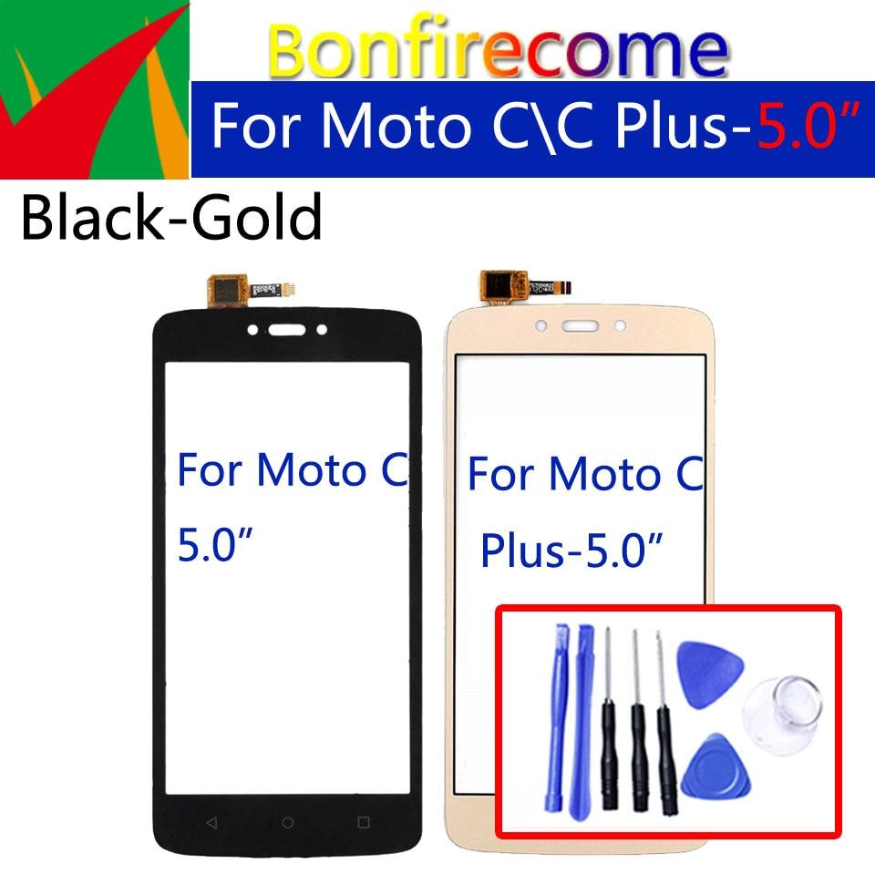 For Motorola-Moto C XT1750 XT1754 XT1756 TouchScreen Panel Sensor For-Moto C Plus  XT1721 XT1723 Digitizer Glass Replacement