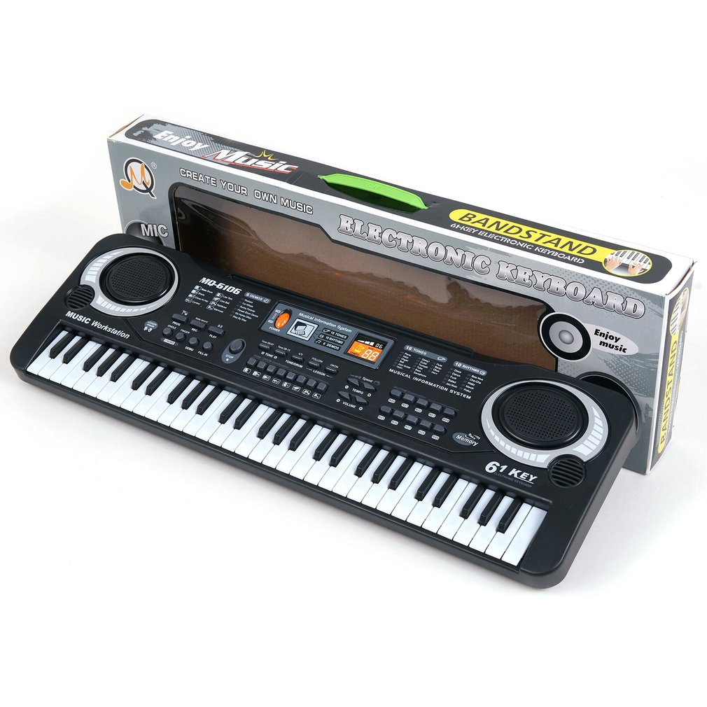 61 Keys <font><b>Digital</b></font> Music Electronic Keyboard Key Board Gift Electric <font><b>Piano</b></font> Gift Children Early Educational Tool For Kid new arrival image