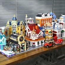 MOC Creator Expert Shoes Shop Bricks City Street View Series Model Coffee House Brick Bank Kit Building Blocks Kids Toys