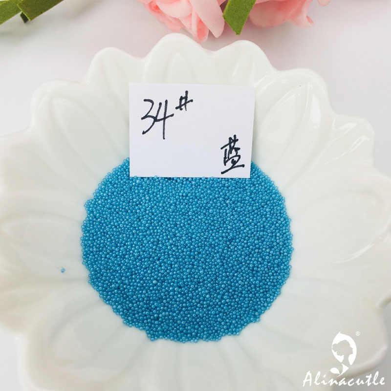 20 g/lote Nail Art Minúsculo Caviar Beads 3D Projeto Manicure Aço Jóias Cartão Feito À Mão DIY Estame Flor Lantejoulas Shaker