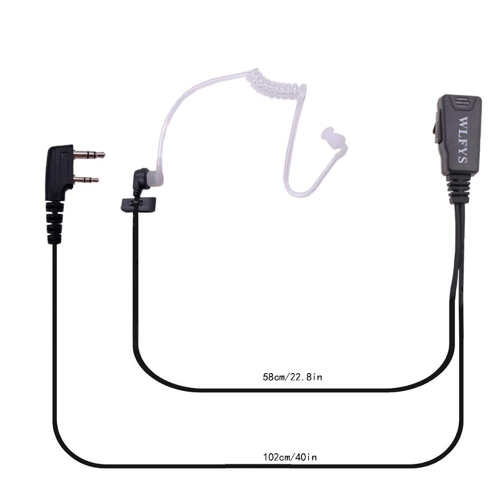 Image 2 - 2pcs Mic Earpiece Walkie Talkie Headset For Kenwood For Baofeng Radio Devices 2Pin-in Walkie Talkie from Cellphones & Telecommunications