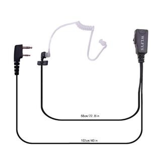 Image 2 - 2pcs Mic Earpiece Walkie Talkie Headset For Kenwood For Baofeng Radio Devices 2Pin