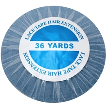 36 야드 블루 레이스 프론트 테이프 헤어 익스텐션 접착 테이프 스킨 위사 테이프 0.8/1.0/1.27 cm
