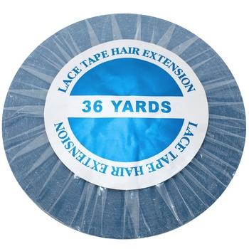 36 jardów niebieska koronka taśma przednia do przedłużania włosów taśma samoprzylepna skóra wątek taśma 0 8 1 0 1 27 cm tanie i dobre opinie glue 1 roll GL-09 Kleje Blue 36yards