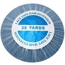 36 yards Blau spitze vorne band haar verlängerung klebeband haut schuss band 0,8/1,0/1,27 cm