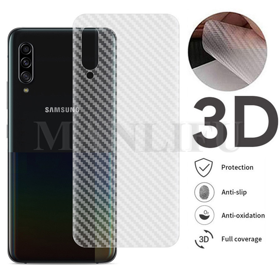 10Pcs/lot 3D Back Carbon Fiber Film For Samsung Galaxy A90 5G A80 A70 A60 A50 A40 A30 Matte Screen Protector On Galaxy A70s A50s