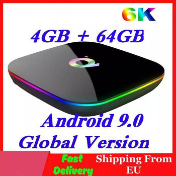 H6 6K Smart Tv Box Android 9.0 4Gb Ram 64Gb Rom Quadcore Play Store Youtube Wifi set Top Box 2G16G Media Player Q Plus h96 mini android 9 0 tv box 4gb 64gb allwinner h6 quad core 6k h 265 wifi bluetooth youtube 4k set top box smart 4gb 32gb tv box
